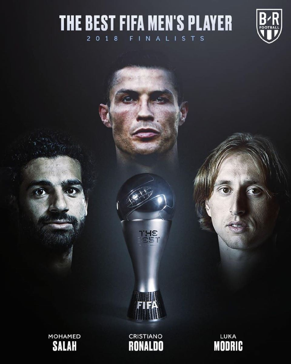 Top 3 đề cử của giải FIFA The Best 2018: Vẫn lại là Ronaldo, Modric và Salah