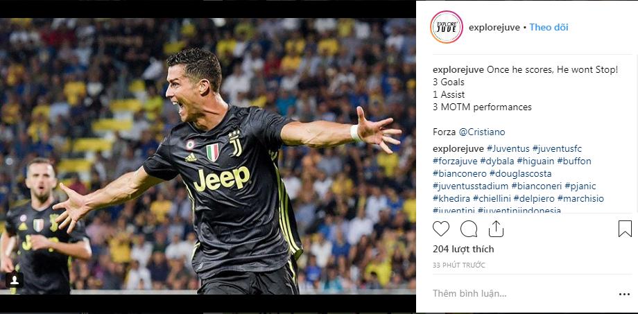   Một khi Ronaldo đã thông nòng, anh ấy sẽ không ngừng ghi bàn: 3 bàn thắng, 1 kiến tạo, 3 lần giành Cầu thủ xuất sắc nhất trận  