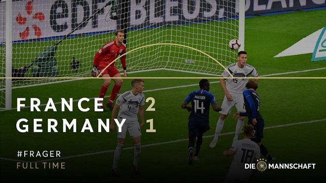 Video clip bàn thắng Pháp 2-1 Đức: Cú đúp cho Griezmann