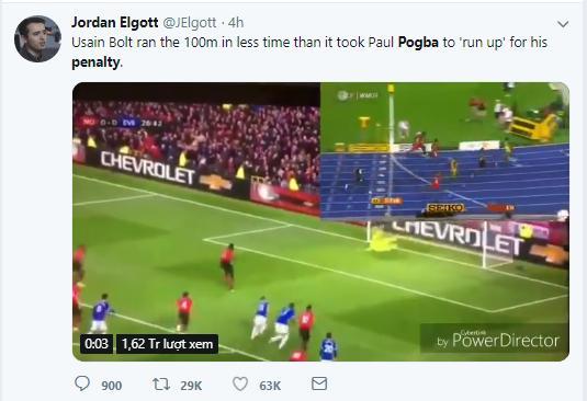 'Usain Bolt chạy 100m còn nhanh hơn Pogba lấy đà đá 11m'