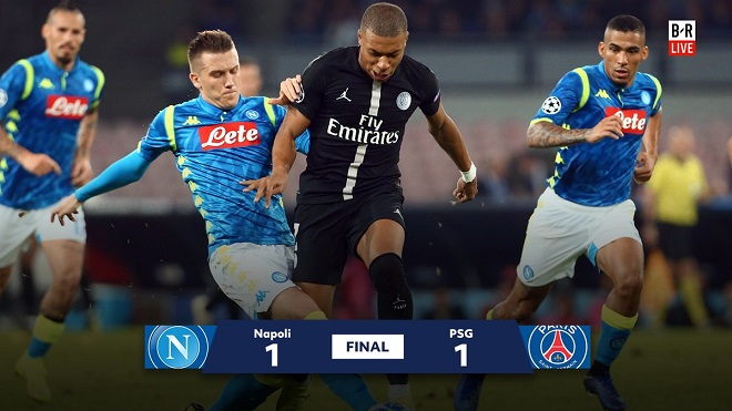 VIDEO Napoli 1-1 PSG: Neymar và Mbappe im tiếng, Napoli lên đầu bảng