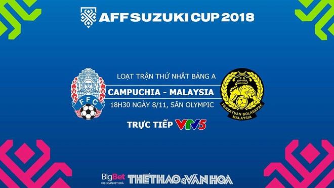 AFF Cup 2018: Dự đoán bóng đá Campuchia vs Malaysia (18h30 ngày 8/11)