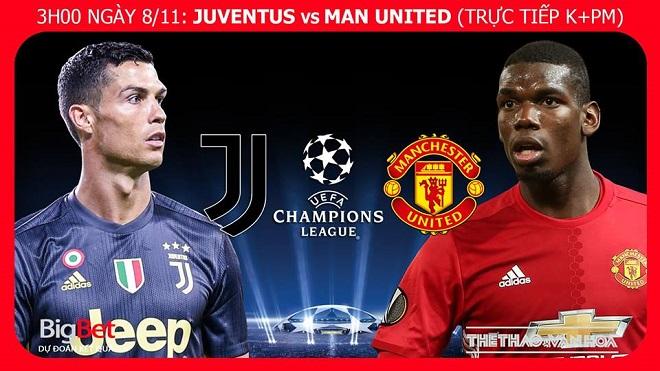 Soi kèo Juventus vs M.U (03h00 ngày 8/11), vòng bảng Cúp C1