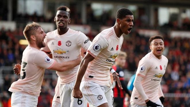 Video clip bàn thắng Bournemouth 1-2 M.U: Martial, Rashford tỏa sáng