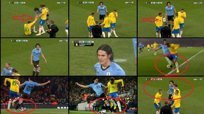 Căng thẳng tột đồ, Cavani tuyệt tình đốn ngã Neymar ngay trên sân