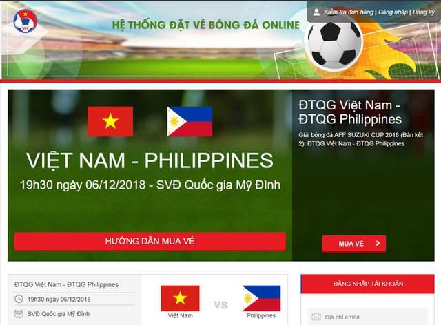 Tổng thư ký VFF thông báo đã bán hết vé online trận Việt Nam vs Philippines