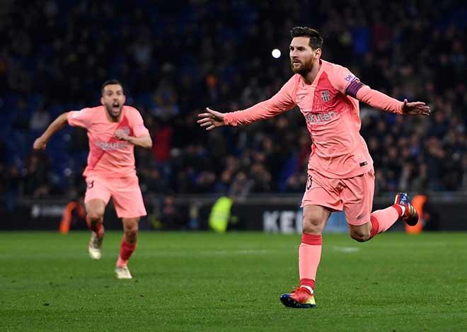 Lionel Messi, La Liga, Barca, Barcelona, video clip bàn thắng Espanyol vs Barca, trực tiếp Espanyol vs Barca, Barcelona, Espanyol, Dembele, Luis Suarez