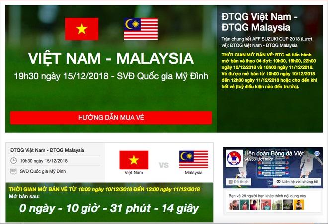 VTV6, truc tiep bong da, vebongdaonline, vé bóng đá, mua vé bóng đá online, vebongdaonline.vn, lịch thi đấu chung kết aff cup 2018, Việt Nam, Malaysia, VTC3, VTV5