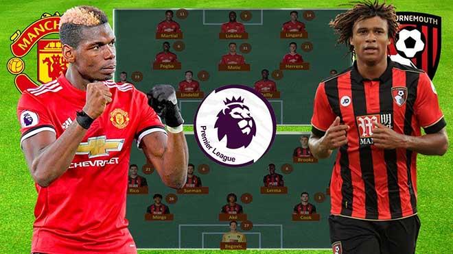 Trực tiếp bóng đá. Xem trực tiếp MU vs Bournemouth (23h30, 30/12). Lịch thi đấu bóng đá Anh