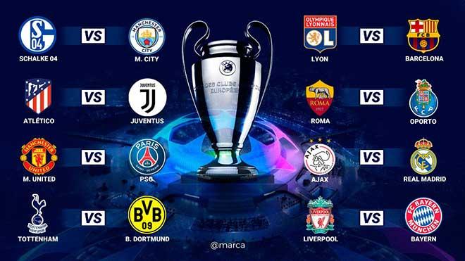 KẾT QUẢ bốc thăm vòng 1/8 Champions League: M.U gặp PSG, Atletico Madrid đối đầu Juventus