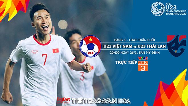 Soi kèo U23 Việt Nam vs Thái Lan (20h00, 26/3). Kèo bóng đá. Trực tiếp VTV5, VTC3