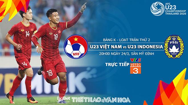 Soi kèo và dự đoán bóng đá U23 Việt Nam vs U23 Indonesia (20h00, 24/3). Trực tiếp VTC3, VTC1, VTV5