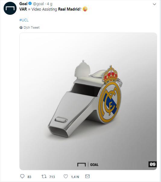 VAR, Real Madrid, Ajax, bàn thắng không được công nhận, trực tiếp bóng đá, trực tiếp real madrid, ajax vs real madrid, xem trực tiếp real madrid ở đâu