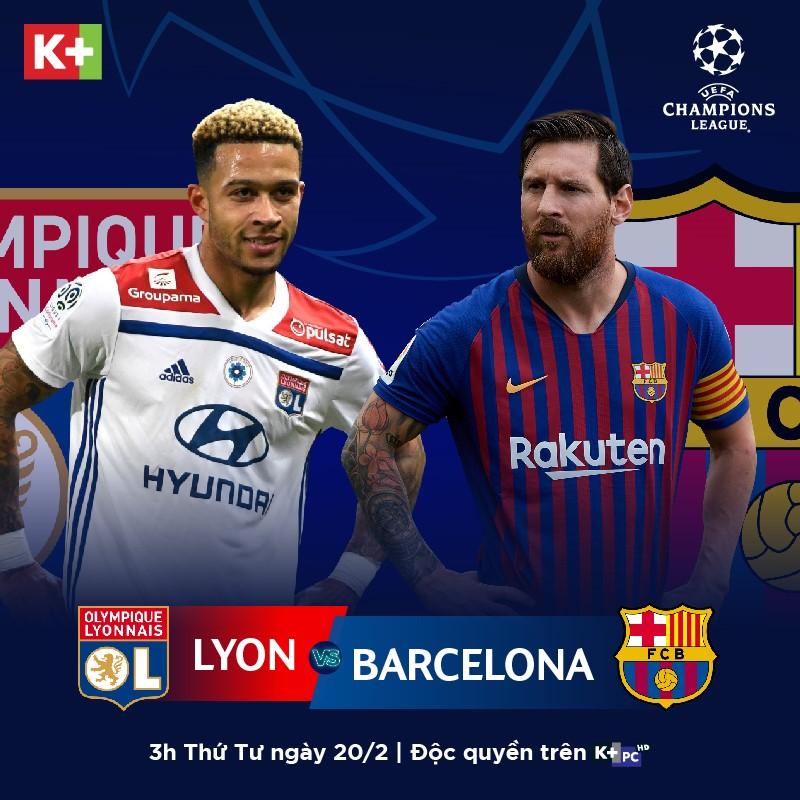 Champions League, K+, K plus, trực tiếp Champions League, trực tiếp Atletico Madrid vs Real Madrid, trực tiếp Liverpool vs Bayern Munich, trực tiếp Lyon vs Barca