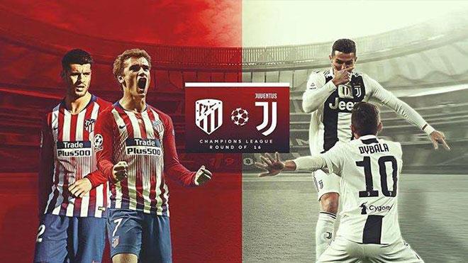 Xem TRỰC TIẾP Atletico Madrid vs Juventus (03h00, 21/02) ở đâu?