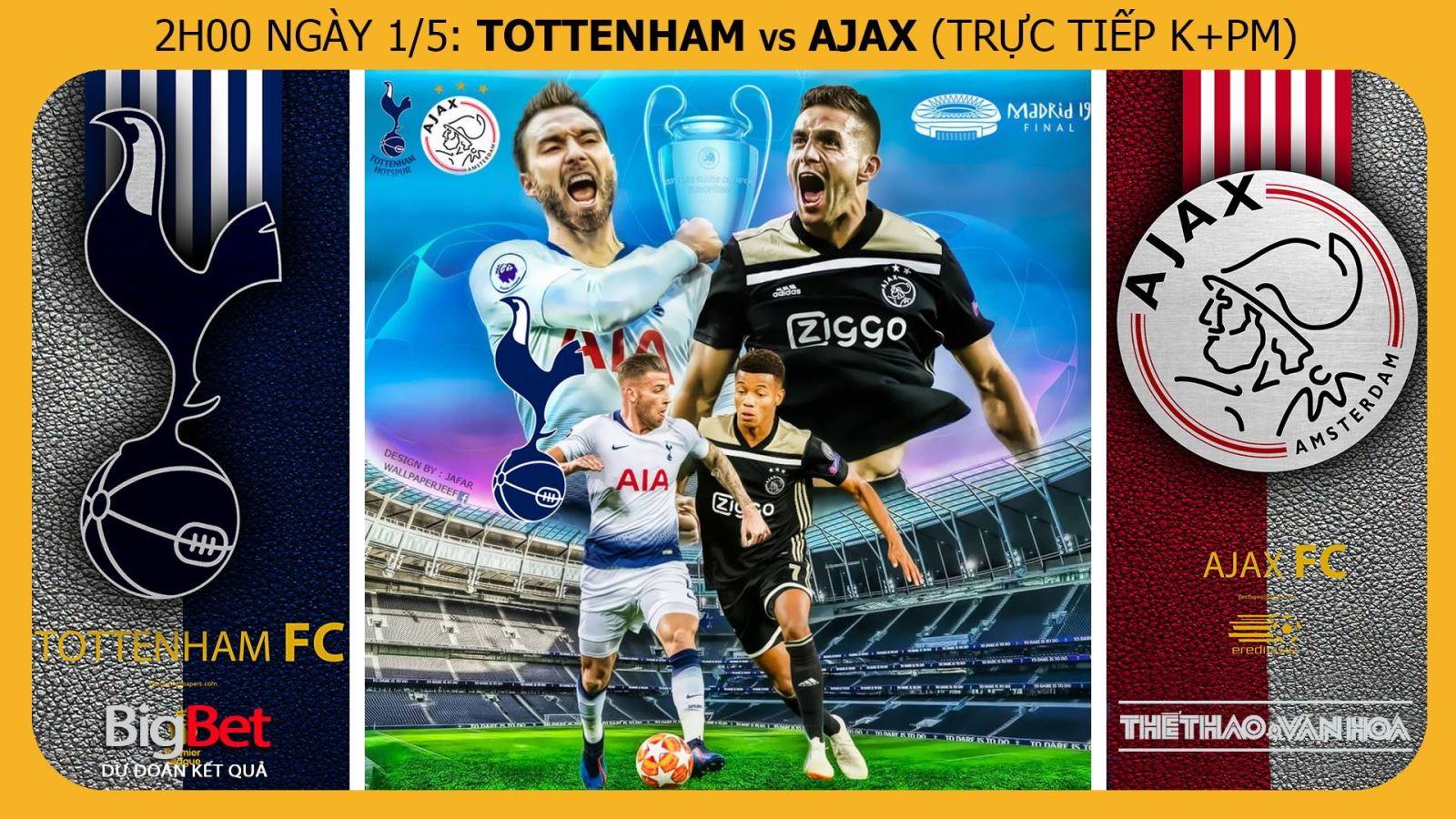Soi kèo dự đoán bóng đá Tottenham vs Ajax ( 02h00, 1/5). Trực tiếp K+PM