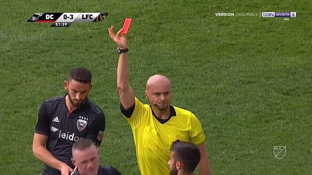 Wayne Rooney, MU, Manchester United, DC United, thẻ đỏ, MLS, wayne rooney, VAR