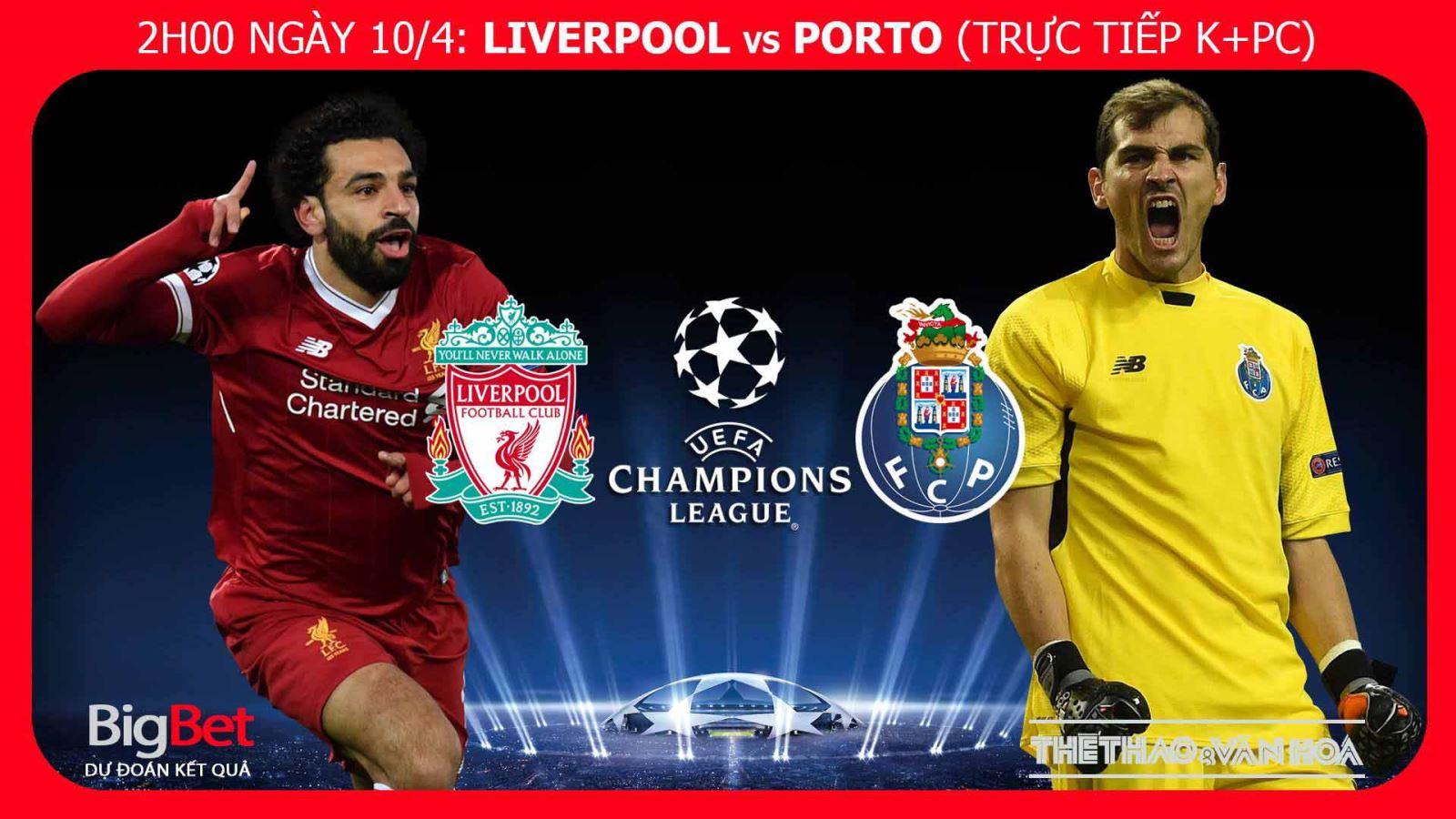 Soi kèo bóng đá Liverpool vs Porto (02h00, 10/4). Trực tiếp bóng đá. Lịch thi đấu C1