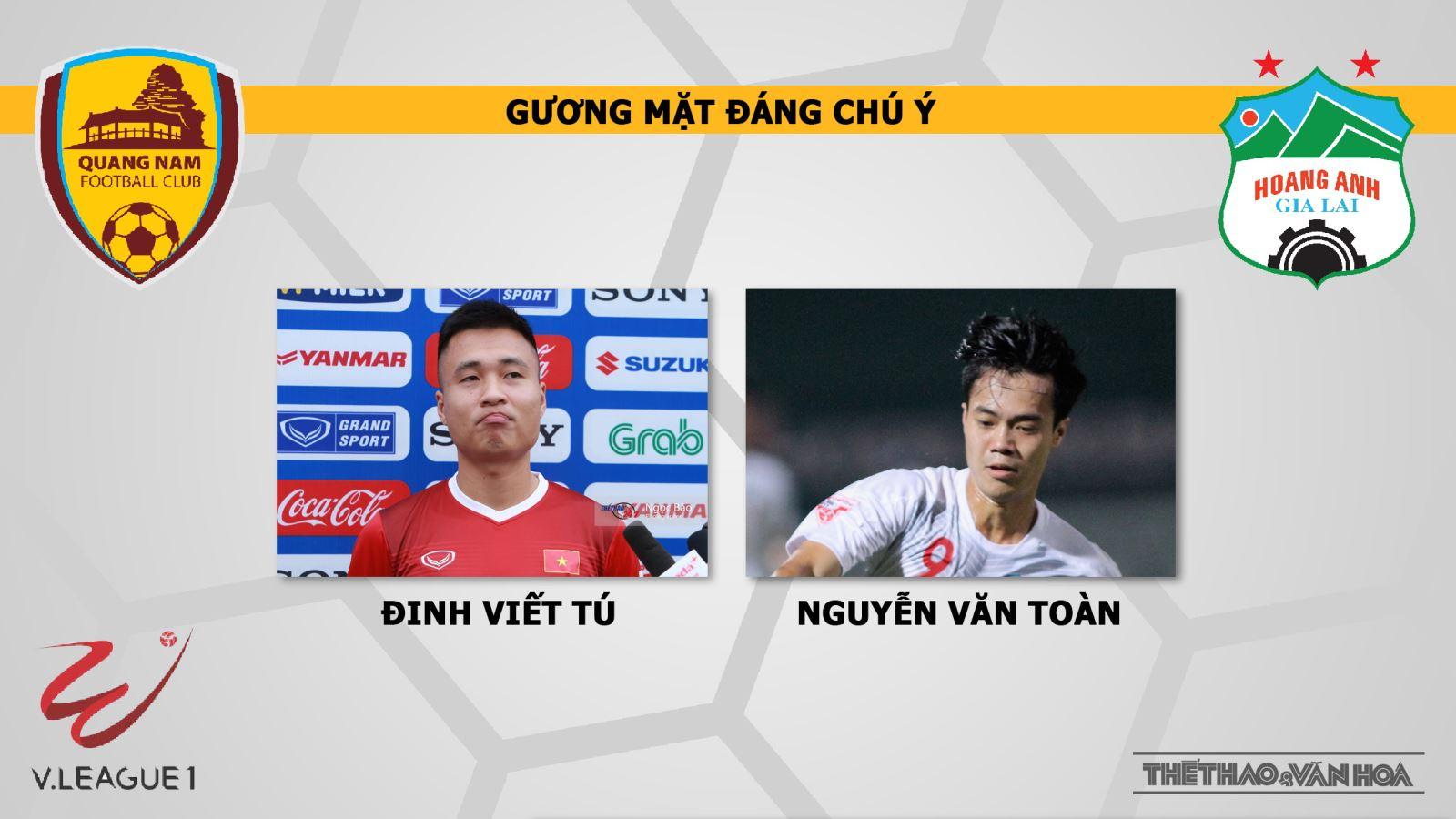 Quảng Nam vs HAGL. Trực tiếp bóng đá. HAGL. VTV6. Trực tiếp HAGL. V League 2019