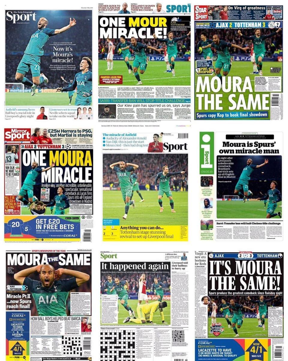 Ajax 2-3 Tottenham: Lucas Moura được Chấm điểm 10. Lịch