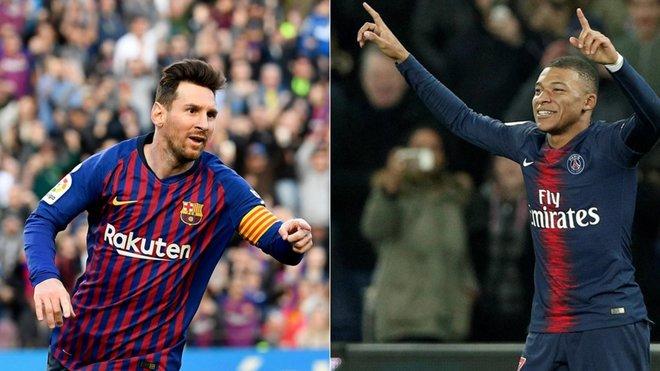 Barcelona, Lionel Messi, Barca, trực tiếp bóng đá, Chiếc giày vàng châu Âu, Kylian Mbappe, PSG