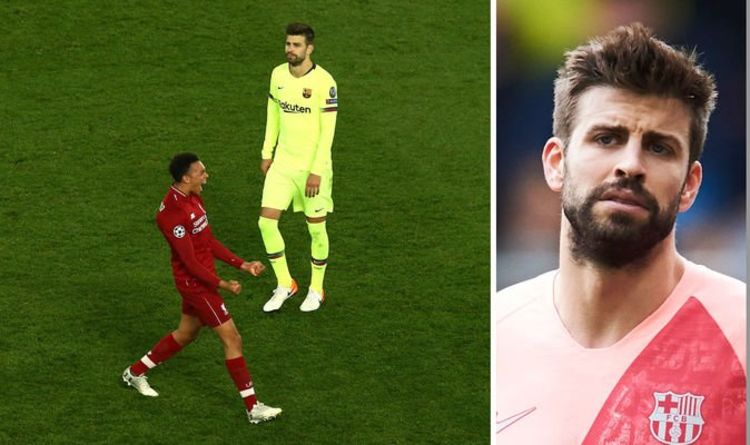 pique, barca, barcelona, liverpool, gerard pique, champions league, anfield, as roma