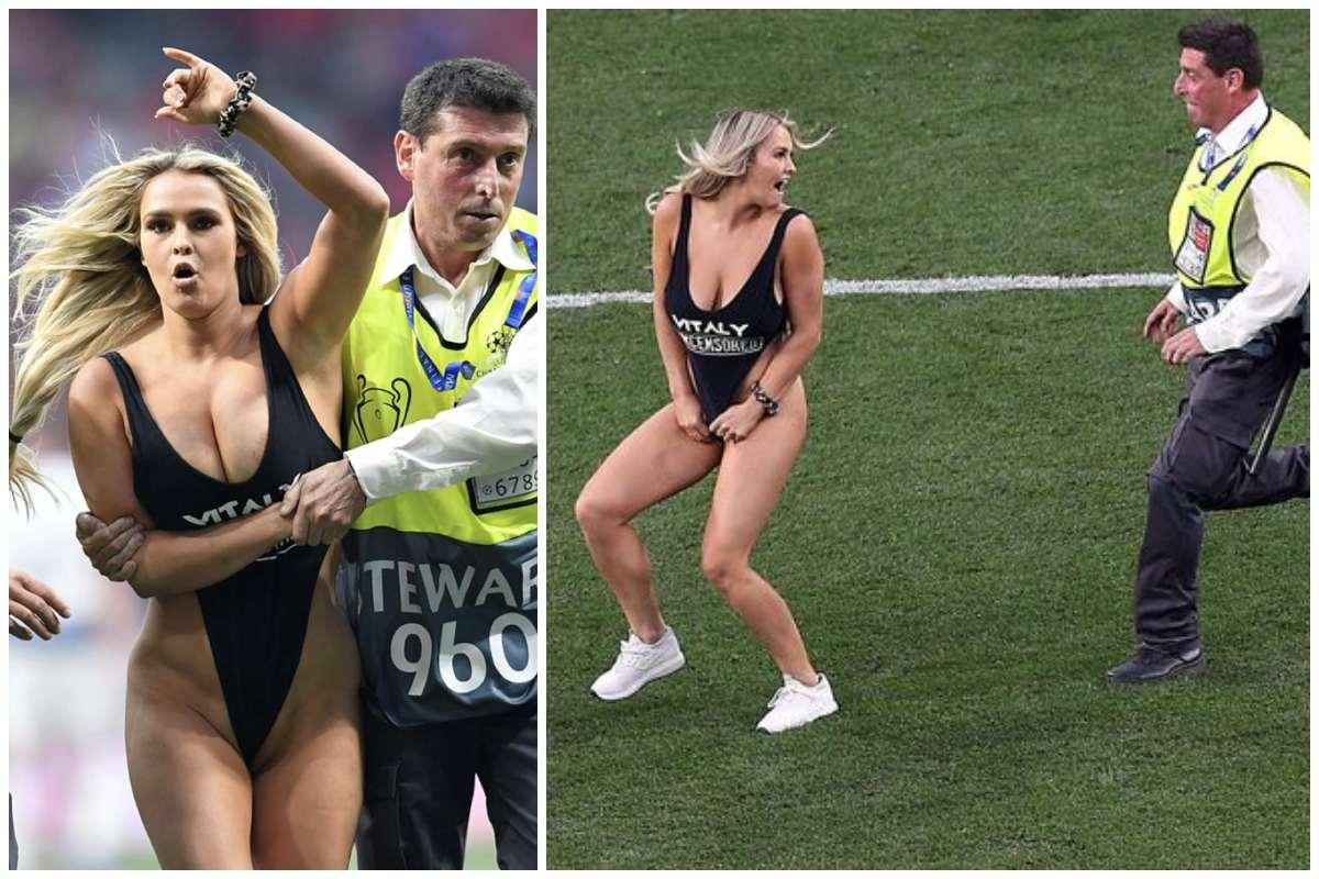 Kinsey Wolanski, người đẹp, ngực khủng, Champions League, Chung kết Champions League, scandal
