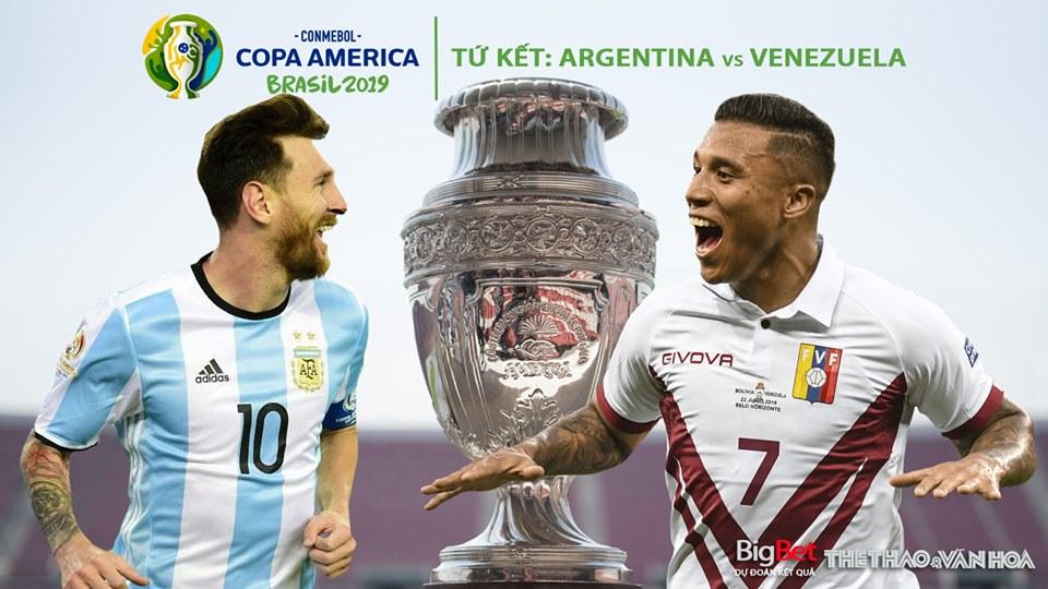Soi kèo Argentina vs Venezuela. Trực tiếp bóng đá Venezuela đấu với Argentina, Copa America 2019