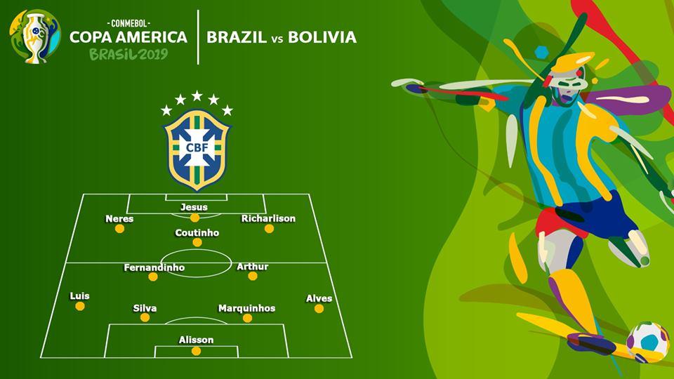 Brazil, Braxin, Brazil vs Bolivia, soi kèo Brazil vs Bolivia, truc tiep bong da, trực tiếp bóng đá, xem bóng đá, lịch thi đấu copa america 2019, fpt, k+, kèo bóng đá