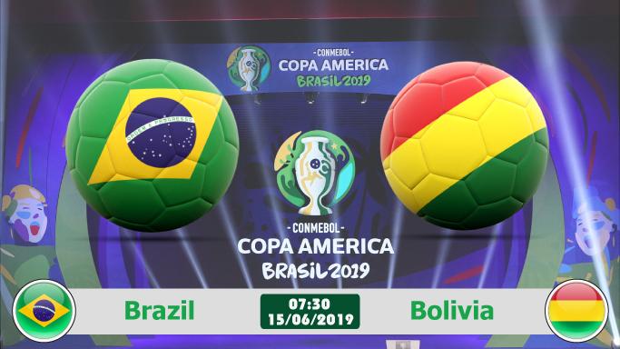 Link xem trực tiếp bóng đá Brazil vs Bolivia (07h30, 15/6), khai mạc Copa America 2019
