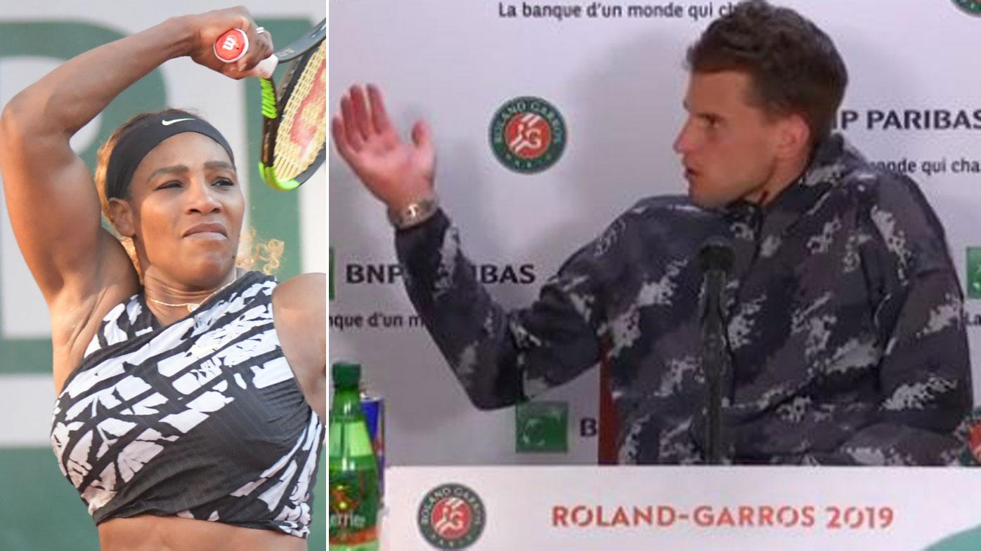 Pháp mở rộng, Dominic Thiem, Serena Williams, Roland Garros, tennis, quần vợt, banh nỉ