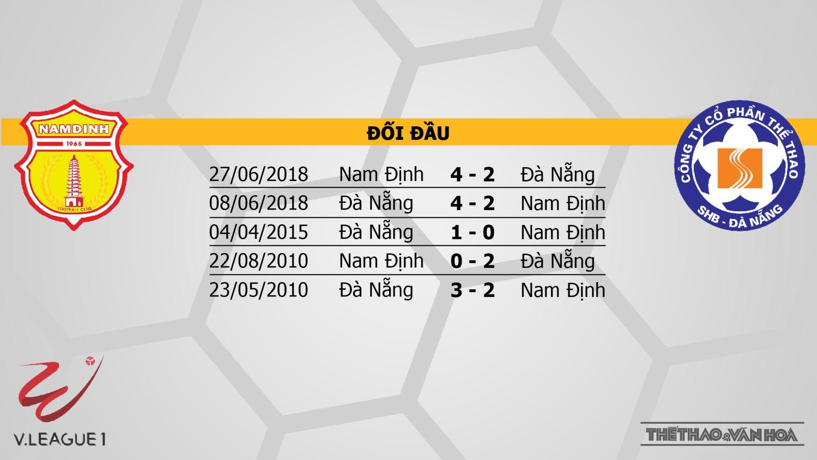 BĐTV, BĐTV trực tiếp bóng đá, truc tiep bong da, trực tiếp bóng đá, Nam Định đấu vớiSHB Đà Nẵng, Nam Dinh vs Da Nang, Nam Định, SHB Đà Nẵng, bảng xếp hạng V League 2019, BĐTV, FPT