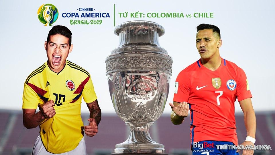 Soi kèo Colombia vs Chile (06h00, 29/6). Trực tiếp bóng đá Colombia đấu với Chile, Copa America 2019