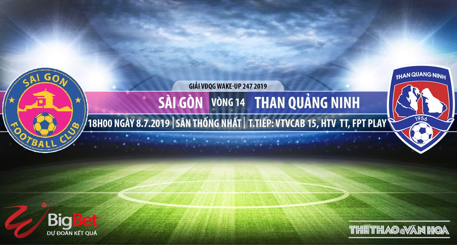 Trực tiếp bóng đá Sài Gòn đấu với Quảng Ninh (18h00, 08/07)