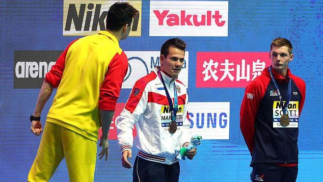 Sun Yang, trung quốc, bơi lội, Duncan Scott, doping, giải bơi lội vô địch thế giới, lịch thi đấu hôm nay