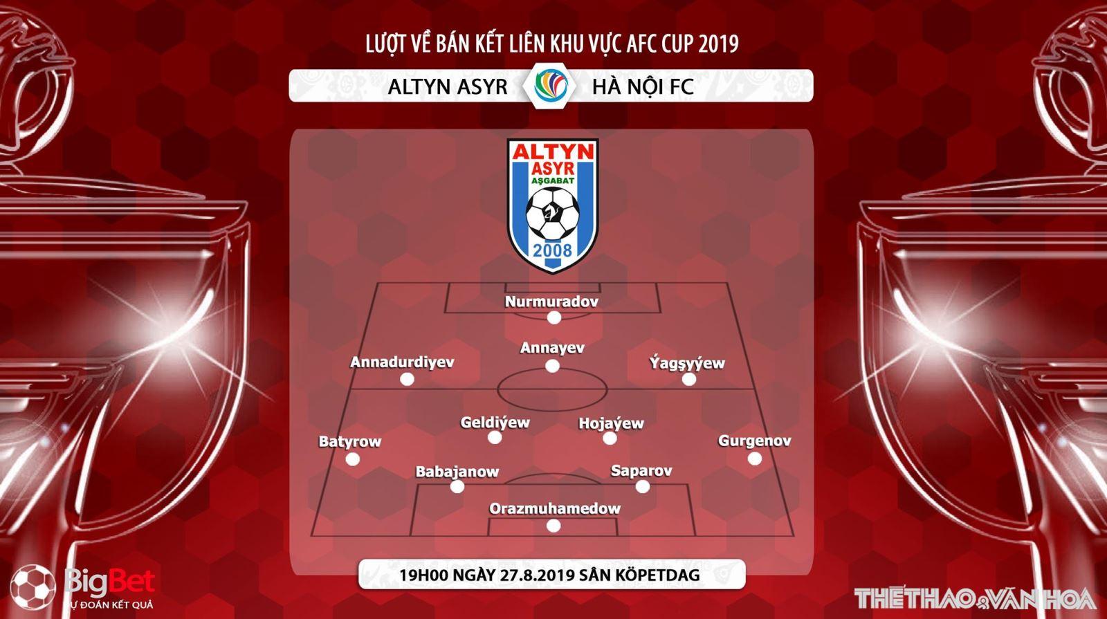 trực tiếp bóng đá, Hà Nội vs Altyn Asyr, Hà Nội đấu với Altyn Asyr, truc tiep bong da, bong da hom nay, Hà Nội, AFC Cup 2019, bán kết liên khu vực AFC Cup 2019