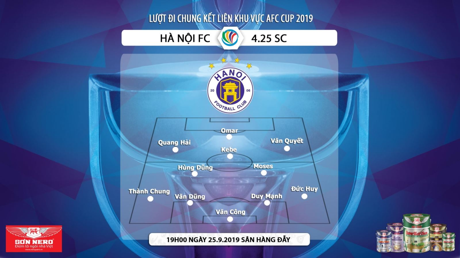 Truc tiep bong da, trực tiếp bóng đá, Hà Nội vs 4.25 SC, Hà Nội đấu với 4.25 SC, Trực tiếp AFC Cup 2019, Kèo bóng đá, FOX Sports, trực tiếp bóng đá hôm nay, Hà Nội, AFC
