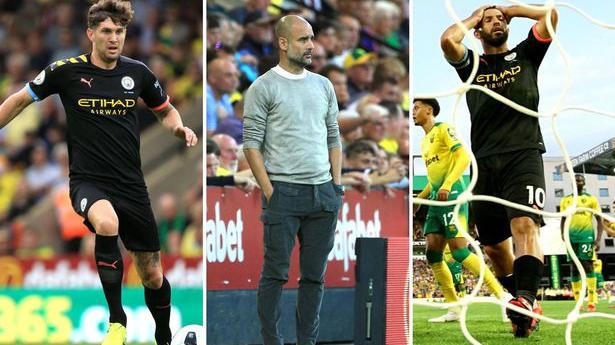 man city, bóng đá, manchester city, lịch thi đấu bóng đá, norwich, man city thua norwich, pep guardiola, kết quả bóng đá