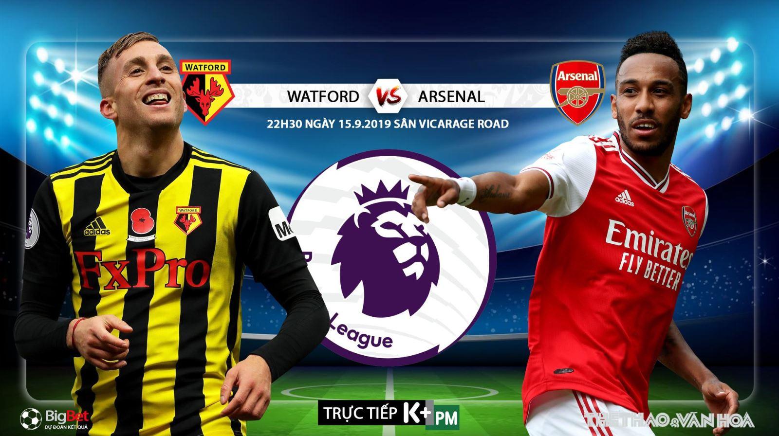 Soi kèo bóng đá: Watford đấu với Arsenal (21h00 hôm nay). Trực tiếp K+, K+PM