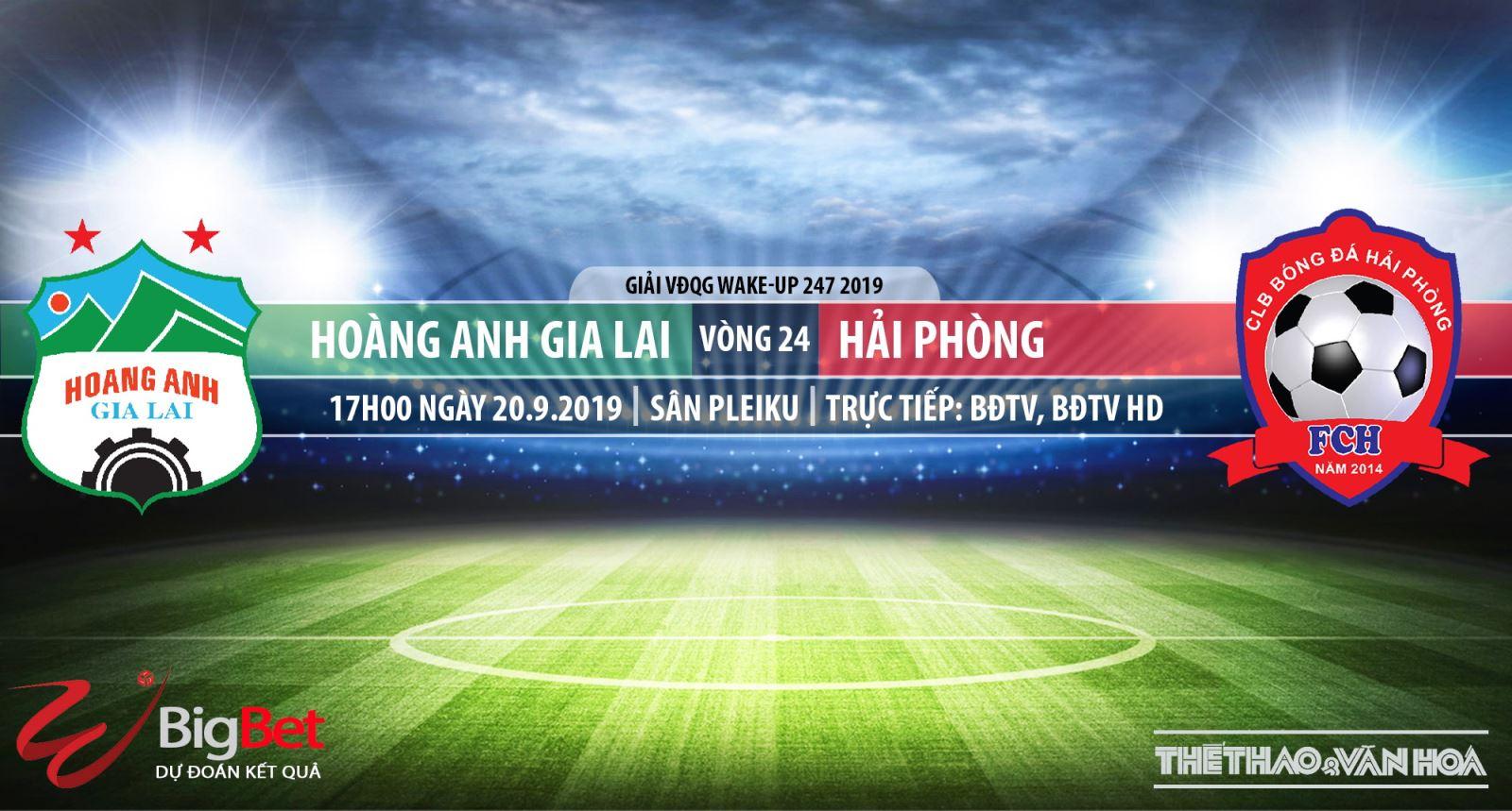 Trực tiếp bóng đá: HAGL đấu với Hải Phòng (17h00 hôm nay), V League 2019. Soi kèo bóng đá Việt Nam