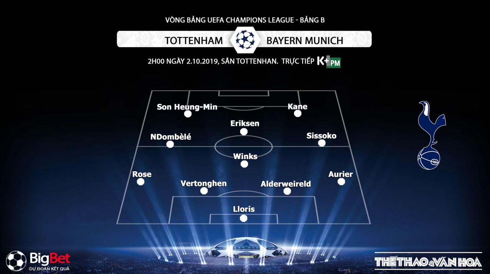 soi kèo bóng đá, Tottenham vs Bayern Munich, truc tiep bong da hôm nay,Tottenham đấu với Bayern Munich, trực tiếp bóng đá, K+, K+PM, K+PC, xem bóng đá trực tuyến, Tottenham, bong da