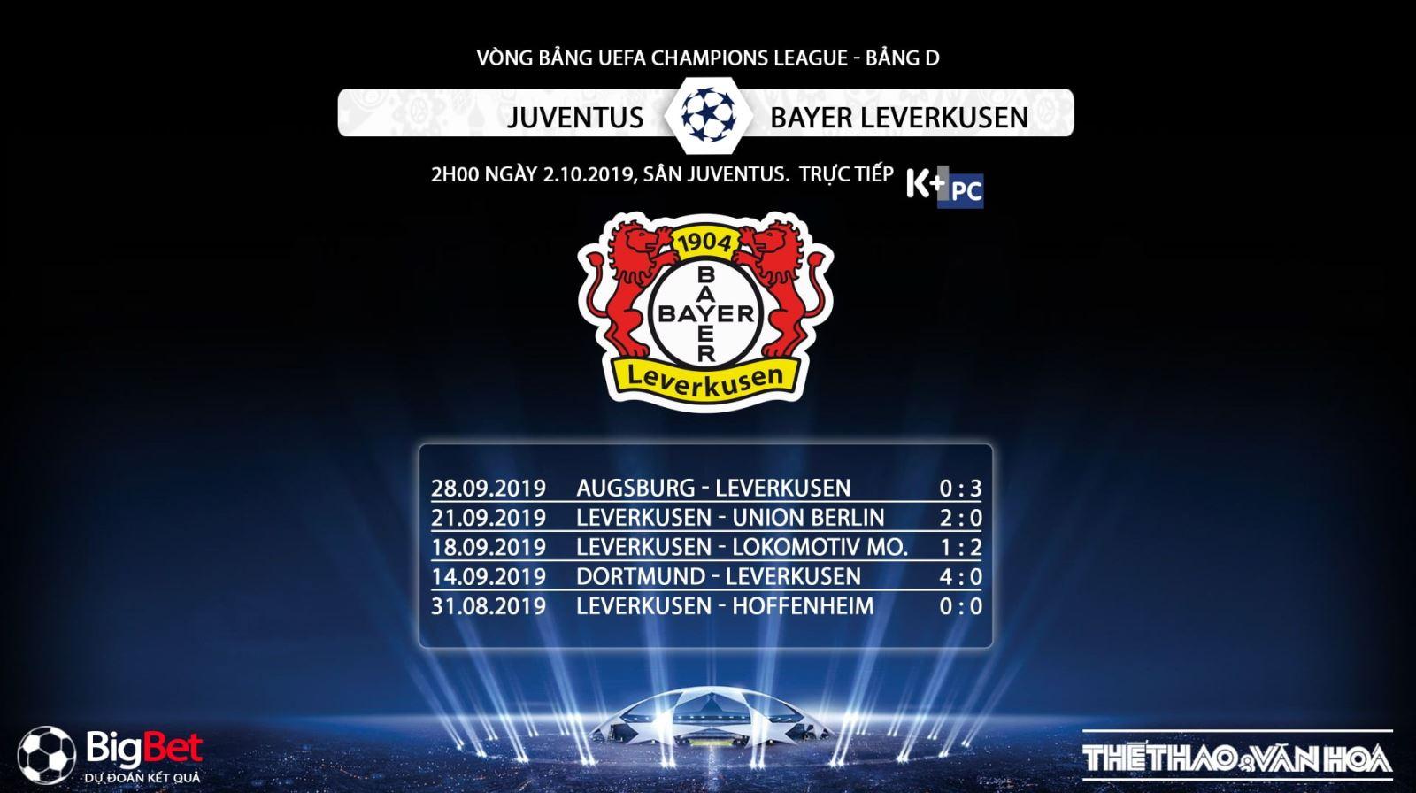 soi kèo bóng đá, Juventus đấu với Bayer Leverkusen, truc tiep bong da hôm nay, Juventus vs Bayer Leverkusen, trực tiếp bóng đá, K+, K+PM, K+PC, xem bóng đá trực tuyến, Juventus, bong da
