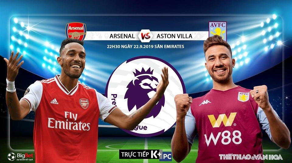 Soi kèo bóng đá: Arsenal đấu với Aston Villa, Ngoại hạng Anh. Trực tiếp K+, K+PM
