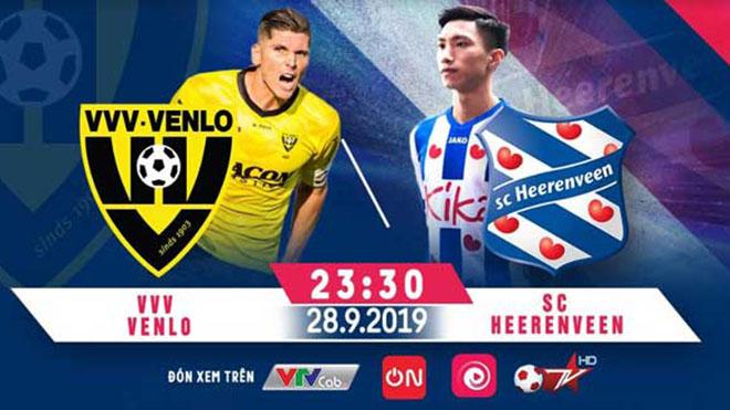 truc tiep bong da, trực tiếp bóng đá hôm nay, Đoàn Văn Hậu ra mắt, VVV Venlo đấu với Heerenveen, lịch thi đấu bóng đá Hà Lan, link xem Venlo vs Heerenveen, BĐTV