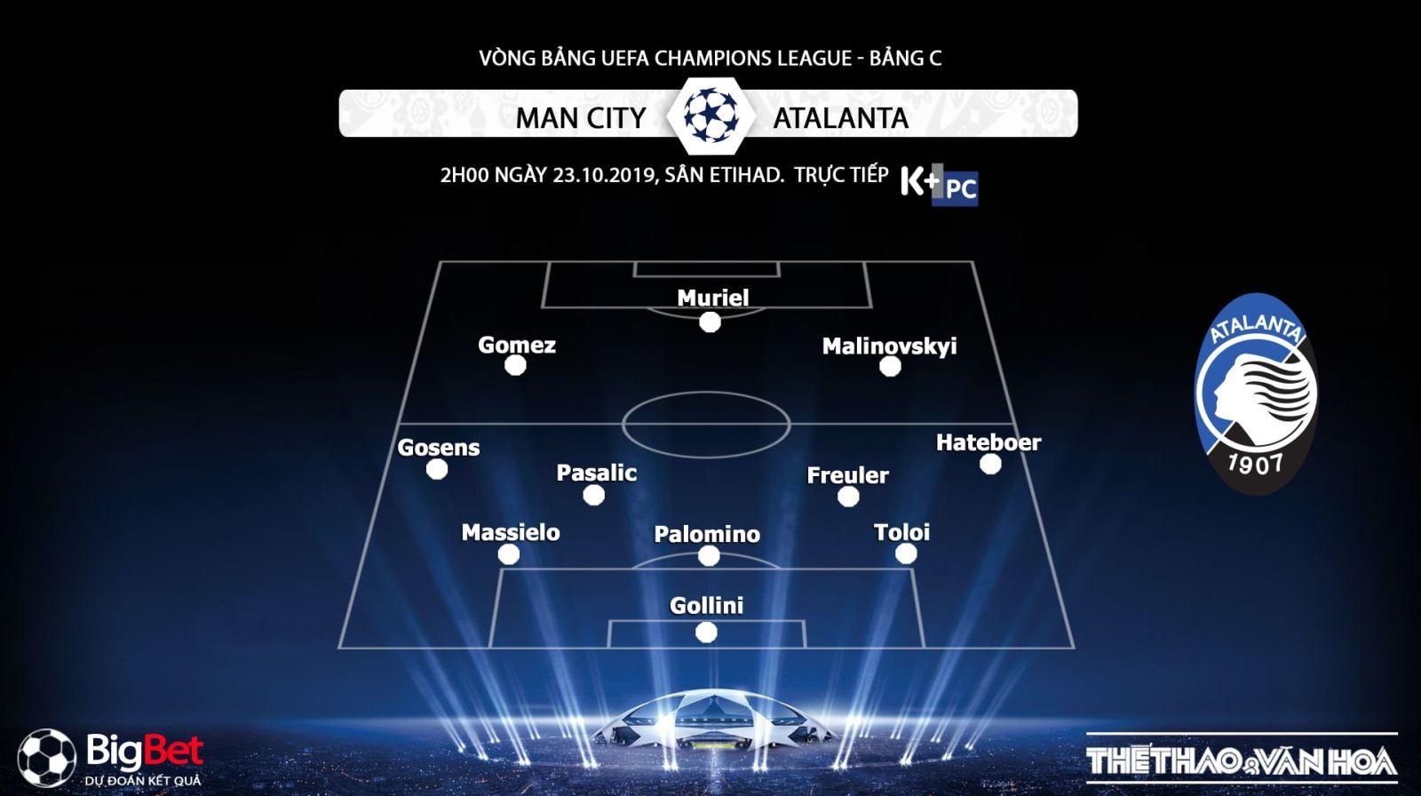 Man City vs Atalanta, ket qua bong da hôm nay, Man City đấu với Atalanta, keo bong da, K+, K+PM, xem bóng đá trực tuyến, Cúp C1, K+PC, Man City, K+, K+PM, soi kèo bóng đá