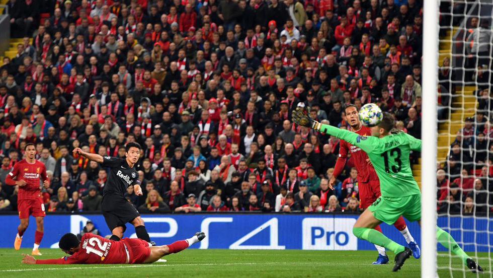 Bong da, bóng đá, ket qua bong da, kết quả bóng đá, lich thi dau bong da hom nay, kết quả cúp C1, Hwang Hee-Chan, Minamino Takumikqbd, cúp C1, video Liverpool 4-3 Salzburg, Liverpool vs Salzburg, Salah