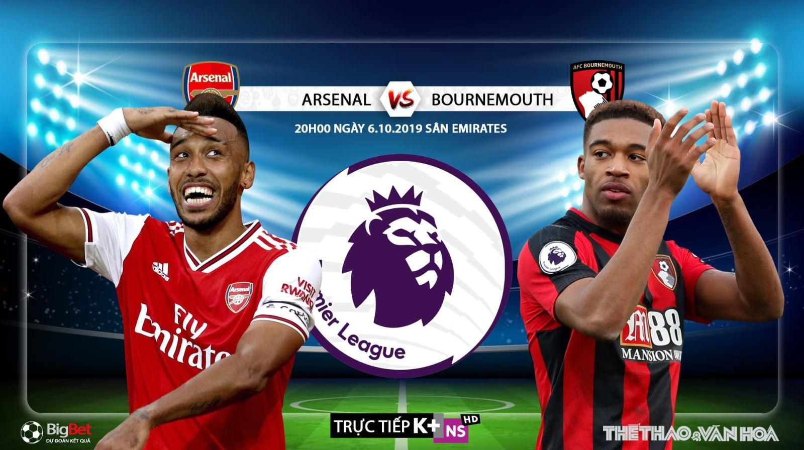 Soi kèo bóng đá: Arsenal đấu với Bournemouth, Ngoại hạng Anh. Trực tiếp K+, K+ PM
