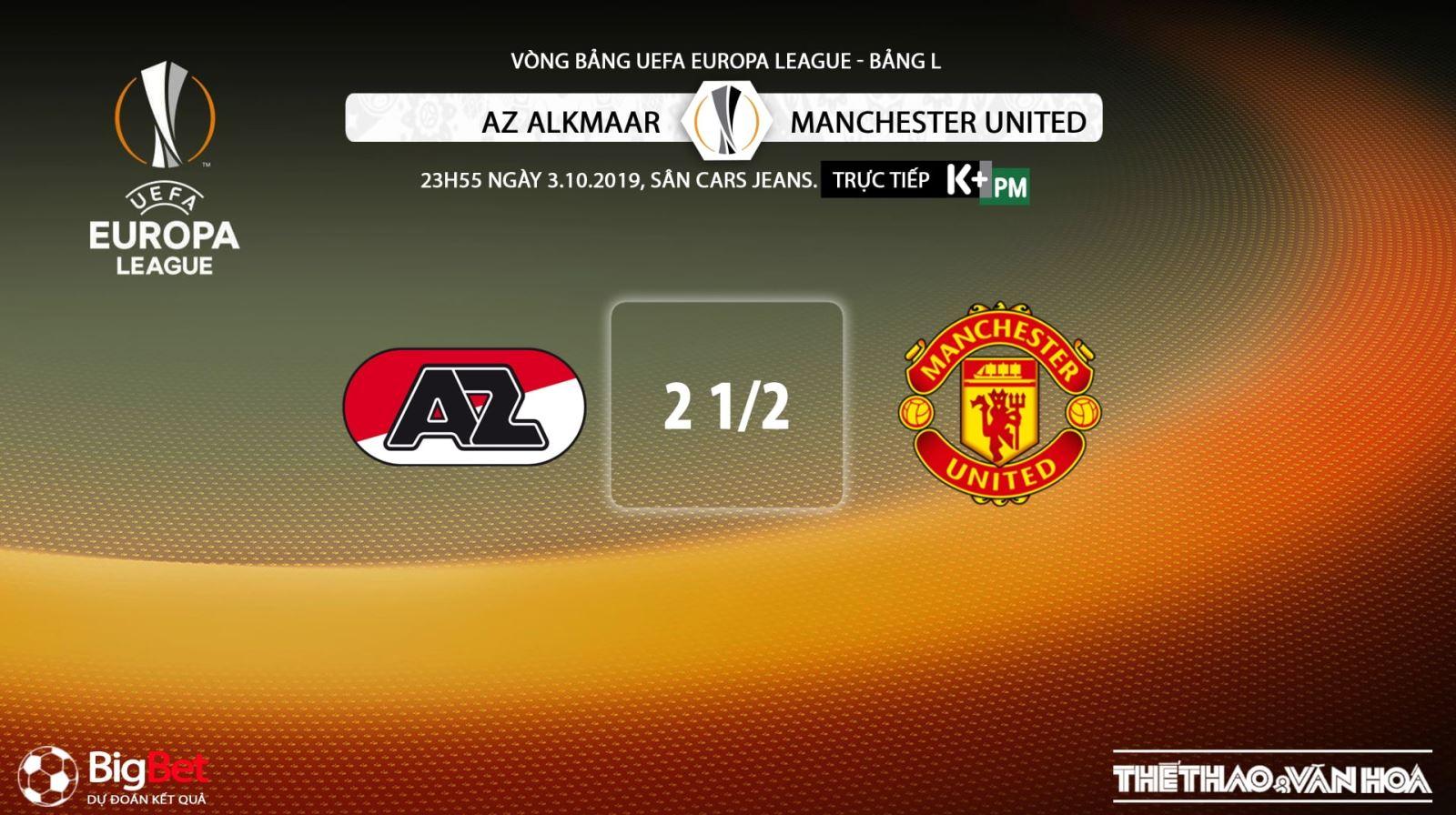soi kèo bóng đá, AZ Alkmaar vs MU, truc tiep bong da hôm nay, AZ Alkmaar đấu với MU, trực tiếp bóng đá, K+, K+PM, K+PC, xem bóng đá trực tuyến, bong da, MU