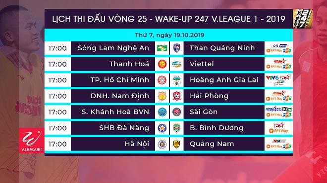 Lịch thi đấu V League, VTV6, VTV5, lịch thi đấu bóng đá hôm nay, trực tiếp bóng đá, truc tiep bong da, trực tiếp TPHCM HAGL, xem trực tiếp TPHCM HAGL ở đâu, bxh V League