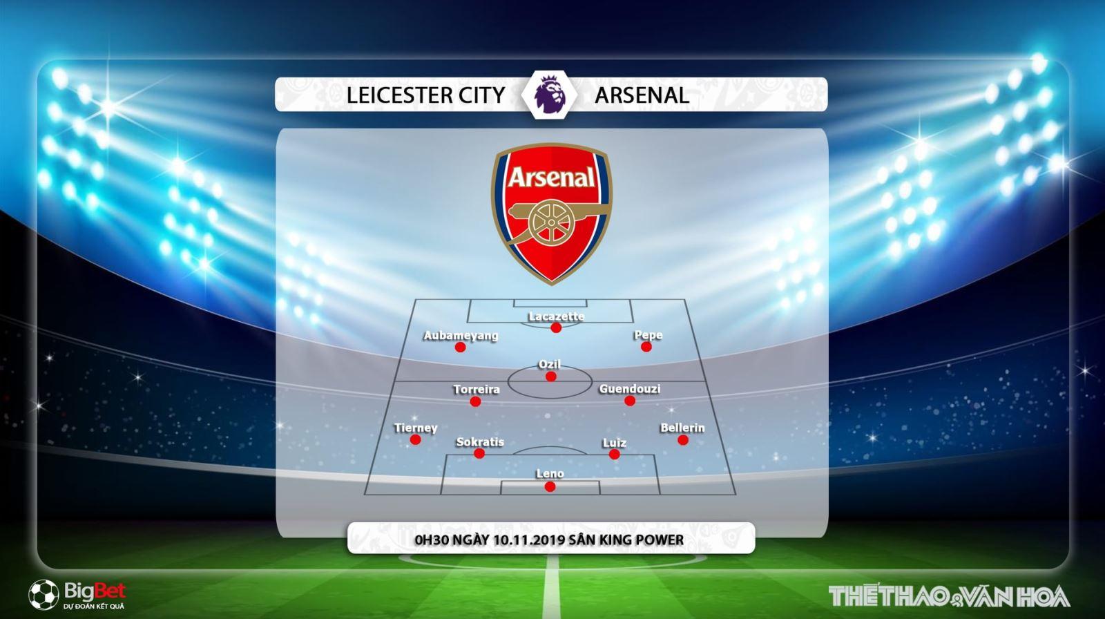 Kèo Leicester đấu với Arsenal, truc tiep bong da hom nay, Arsenal vs Leicester City, bóng đá trực tiếp, K+, K+PM, K+PC, K+1, xem bóng đá trực tuyến, Ngoại hạng Anh